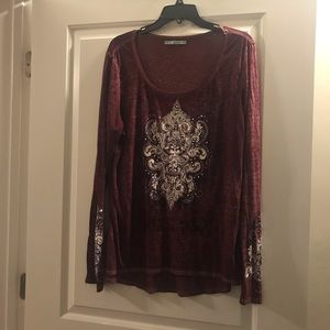 Size XL Maurice's embellished top